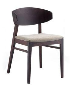 Lorena, Chaise avec siège rembourré en tissu