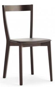 M22, Chaise en bois, assise rembourrée, pour restaurants et bars