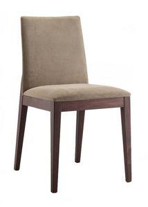 Mary, Chaise avec un design épuré pour salle à manger