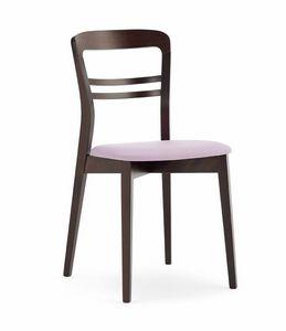 Minerva, Chaise à manger avec siège rembourré