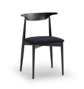MUSICA, Chaise polyvalente avec siège rembourré, dossier ergonomique