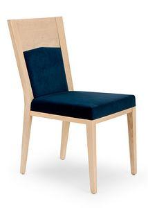Nico PLUS, Elégante chaise en bois rembourrée