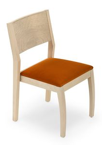 Omega empilable, Chaise empilable en bois
