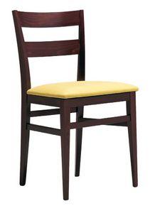 SE 47 / B, Chaise en bois avec siège rembourré, pour les hôtels