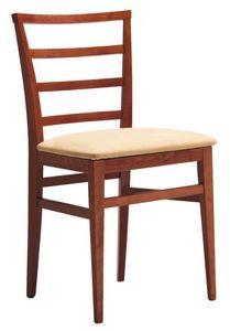 SE 47 / D, Chaise en bois peint, dos à lamelles horizontales