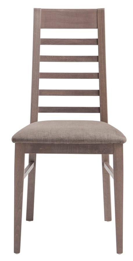 SE 490/E, Chaise avec dossier à lattes horizontales