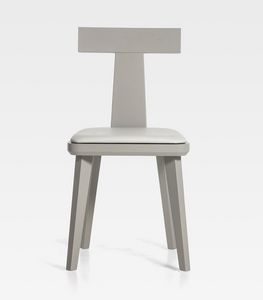 T-Coffee, Chaise en bois avec assise rembourrée