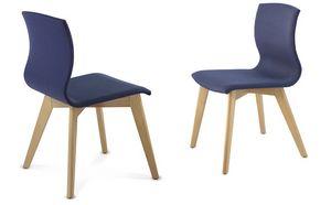 WEBWOOD 357Z, Chaise en bois recouvert