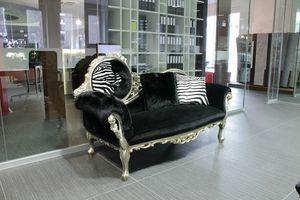 Monet Zebra, Méridienne baroque, fait main, style classique de luxe