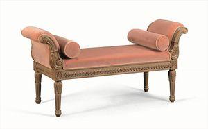 Art. 774, Chaise longue classique en bois massif sculpté