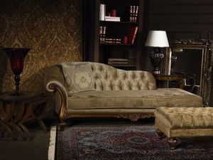 ATENA chaise longue 8556L, Chaise longue rembourrée en polyuréthane, matelassé, pour hall
