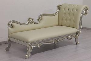 Augusto, Chaise longue en vrai bois sculpté