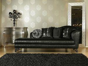 BETSY chaise longue 8551L, Chaise longue luxe classique, différentes finitions, pour le bureau