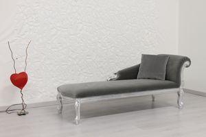 Cleopatra velours, Liberté chaise de style longue avec structure en bois de hêtre