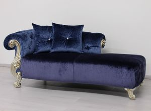 Oceano blu inchiostro, Lluxury chaise Longue, avec un rembourrage matelassé