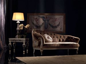 Paolina, Classique chaise longue de luxe, matelassé, pour la réception