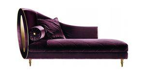 SIPARIO CHAISE LONGUE, Chaise longue en tissu, style classique