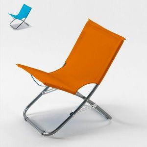 Chaise de plage transat pliante fauteuil piscine acier RODEO - RO600OXF, Chaise légère pour la mer et la piscine