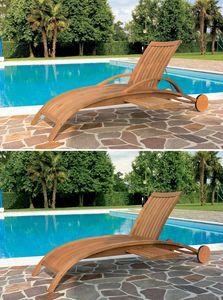 Harmony lit de plage, Transat pour la piscine et le jardin, motif avec lamelles verticales