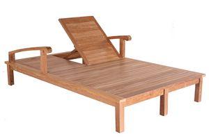 Saint Laurent 0514, Double bain de soleil en bois, réglable