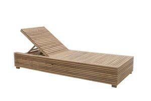 Saint Tropez 0517, Chaise longue inclinable avec table gigogne