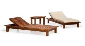 Sorrento/lt, Méridienne extérieure en bois, pour les jardins, piscines, terrasses