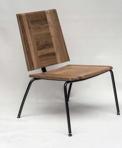 EAGLE A04, Chaise longue en métal et chêne