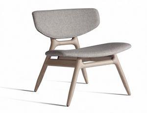 Eco 501T, Chaise longue avec assise et dossier rembourrés
