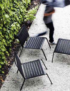 Rest Lounge, Chaise longue d'extérieur en aluminium et polyester