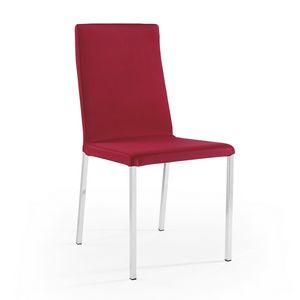 Ares rembourrage amovible chromé, Chaise amovible, idéale pour les restaurants et les bars