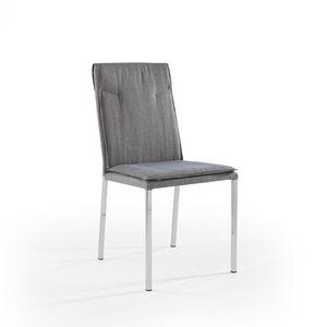 Ariel chromate, Chaise avec pieds chromés et siège rembourré