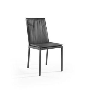 Ariel, Chaise en métal avec assise et dossier rembourrés