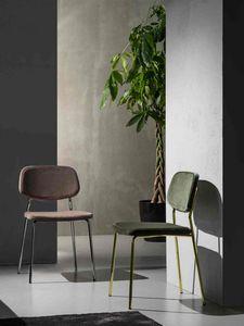 Art. 217 Ginger, Chaise style essentiel en tissu résistant aux taches