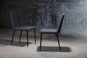 ART. 302 DESIRÉE, Chaise moderne pour la maison, chaise avec corps rembourré pour café,