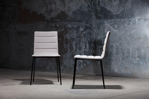 ART. 303 CELINE, Chaise en métal pour les restaurants, avec siège rembourré