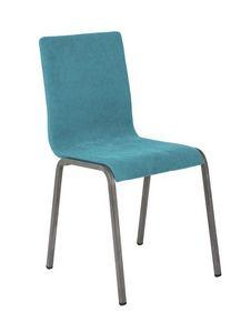 Art.Niù chaise, Chaise rembourrée avec base en métal pour la maison et le contrat utilisation