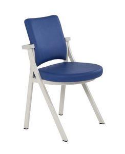 Art.Woox 2/round, Chaise en métal rembourré conçu pour les espaces communautaires