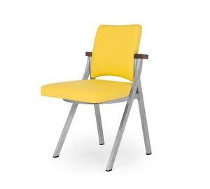 Art.Woox 2/square, Chaise en métal peint, personnalisable en matériaux et des finitions
