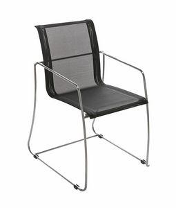 Avalon 5313, Chaise avec piètement luge, assise en résille