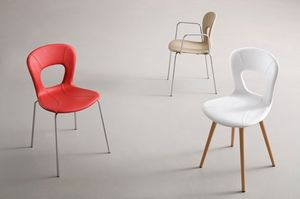 Blog UPH, Chaise empilable, coquille de cuir pour salle d'attente