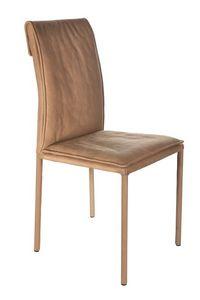 Borso Top, Chaise en métal avec le corps rembourré adapté aux salles modernes