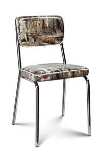 Chanel, Chaise rembourrée, avec revêtement tendance