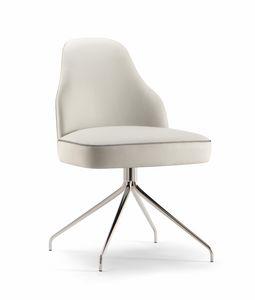CHICAGO SIDE CHAIR 015 S Z, Chaise moderne avec base en araignée