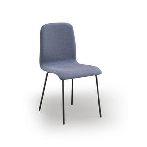 Ciao-M4, Chaise en métal, rembourrée