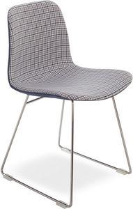 Dama UP, Chaise moderne avec base en métal, assise en tissu