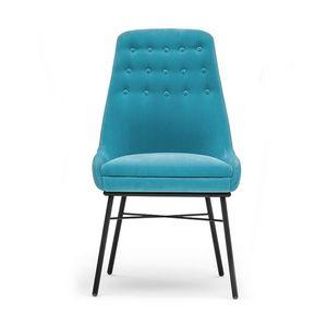 Danielle 03615K, Chaise en métal avec dossier boutonné