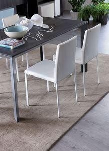 Diva, Chaise en cuir idéal pour les cuisines modernes