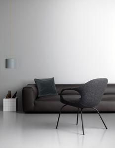 Elephant Lounge, Chaise avec accoudoirs couverts en tissu Kvadrat
