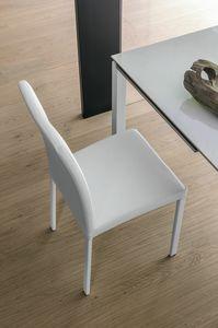 ELISIR SE602, Chaise avec jambes de siège rembourré et métal chromé