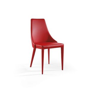 Evelin, Chaise moderne avec siège rembourré
